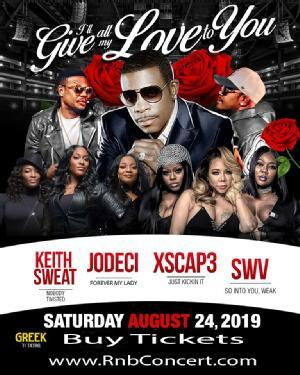 Keith Sweat Jodeci Xscape Swv At The Greek Theater August