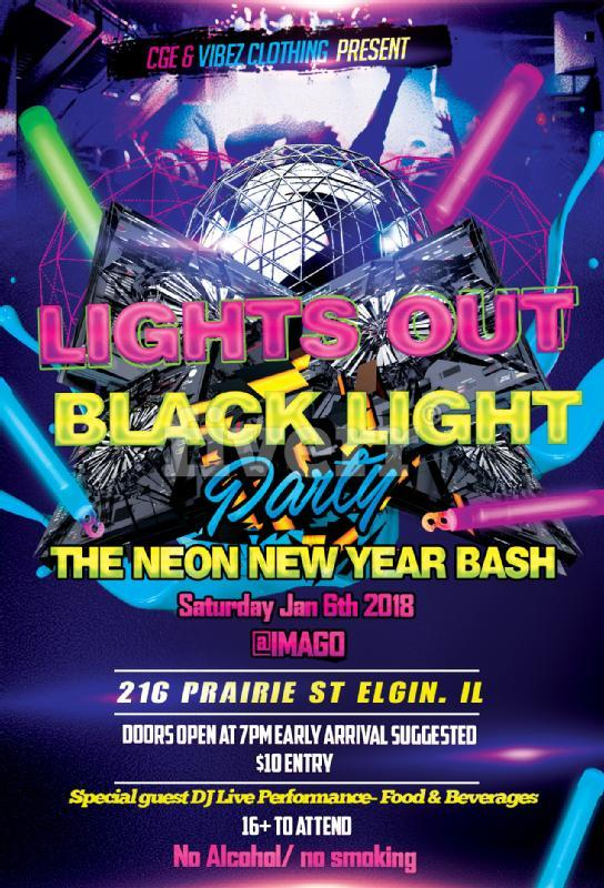 Lights Out Black Light Party